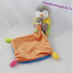 Doudou T'choupi NICOTOY baby Fanny handkerchief Orange Blue