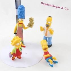 Lot de 4 figurines Les Simpsons Marge, Homer, Bart et Lisa