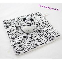 Zebra flat blankie KIMADI black white grey 25 cm