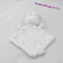Flat blankie rabbit TAPE to the eye Tao white stars 18 cm