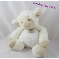 Peluche mouton HISTOIRE D'OURS Les Papouill' ours beige HO2200