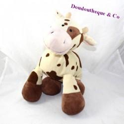 Plush cow LASCAR plush beige stains Brown 30 cm