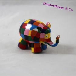 Elephant figurine Elmer PLASTOY multicolor patchwork 2001 7 cm