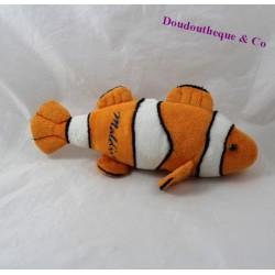 Peluche poisson orange blanc Maldives 26 cm