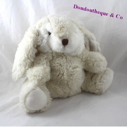 Plush puppet rabbit IKEA white beige 25 cm