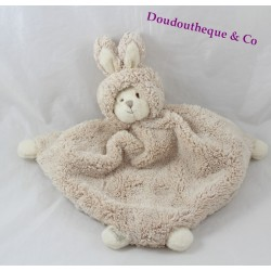 Flat Teddy bear BUKOWSKI beige disguised as rabbit 30 cm