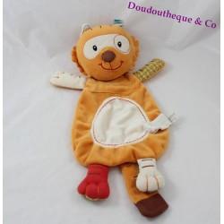 Doudou marionnette Tom tigre LILLIPUTIENS écodoux 39 cm