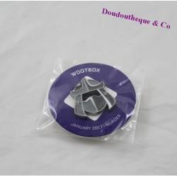 Pin's méchant Shredder WOOTBOX Les tortues Ninja gris 3 cm