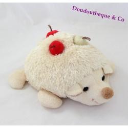 Plush Hedgehog BUKOWSKI cherry beige 26 cm