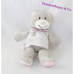 Musical Teddy bear NOUKIE's Violet white dress 18 cm
