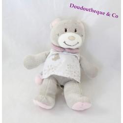 Peluche musicale ours NOUKIE'S Violette robe blanche 18 cm
