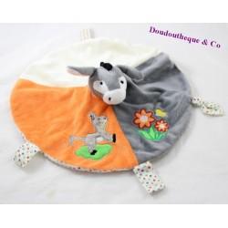 Blankie flat round donkey RODADOU RODA Orange beige 31 cm