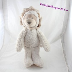Plush lion South ETOFFE beige long hair 30 cm