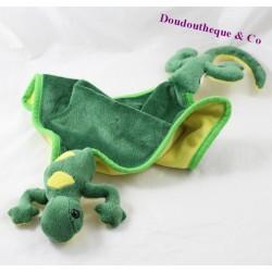 Flat blanket lizard yellow green salamander 55 cm