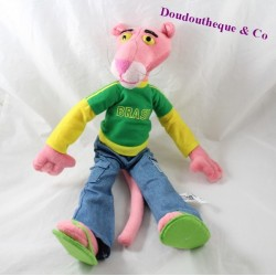 Plush the Panther pink Brasil green Jersey Tong 42 cm