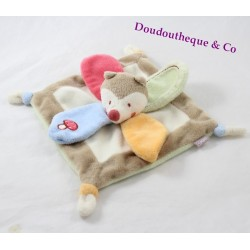 Doudou flat Fox baby 9 sweet forest mushroom Bébé9 20 cm