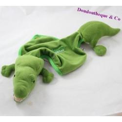 Doudou plat crocodile IMPEXIT La ferme aux crocodiles vert 60 cm
