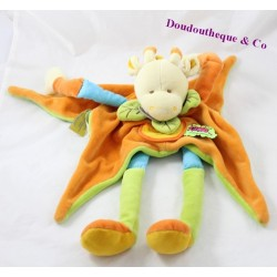 Doudou vache DOUDOU ET COMPAGNIE Tatoo orange vert longues jambes