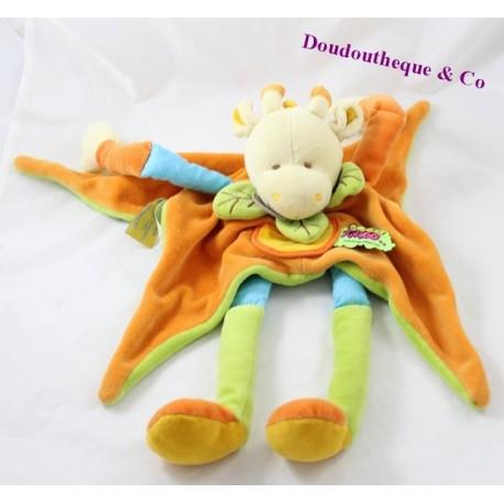 Doudou cow Doudou and company Tatoo Orange green long legs
