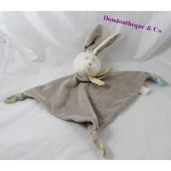Flat blankie rabbit FASHY BABY grey triangle 33 cm
