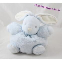 Doudou P'tit lapin KALOO Perle bleu ciel boule 18 cm