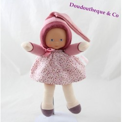 Doudou doll COROLLE Mademoiselle Myrtille polka dots dress 25 cm