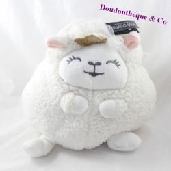 Peluche mouton ETAM range pyjama couronne à paillettes 27 cm