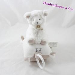 Peluche musicale mouton DOUDOU ET COMPAGNIE Mon tout petit ... agneau blanc taupe DC2430 23 cm