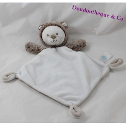 Doudou flat hedgehog TEX diamond bear brown brown white 33 cm
