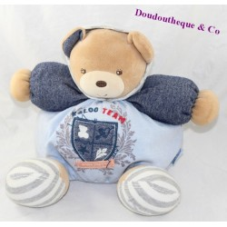 Doudou patapouf ours KALOO Blue Denim Team même pas peur 27 cm