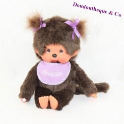 StuffEd Kiki girl SEKIGUCHI Monchhichi purple bib duvets 20 cm