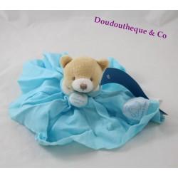 Doudou ours DOUDOU ET COMPAGNIE Lange L'ange bleu turquoise PM DC2358