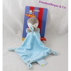 Doudou T'choupi NICOTOY blue handkerchief 33 cm