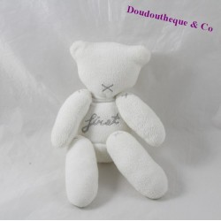 Doudou oso títere NICOTOY Minisu Primer gris blanco 20 cm