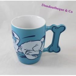 Keramik Becher Idefix Hund PARC ASTERIX Asterix und Obelix Snif Snif Snif 10 cm