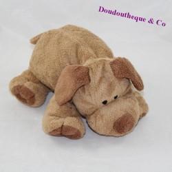 Doudou chien ORCHESTRA Nicotoy marron beige 23 cm