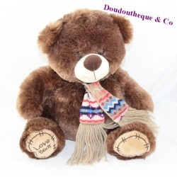 FIZZY Love Bear cub brown scarf 30 cm