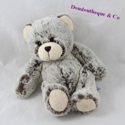 Peluche bear CREATIONS DANI mottled brown grey 20 cm