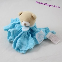 Doudou bear DOUDOU AND COMPAGNIE Lange The turquoise blue angel PM DC2358