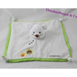 Doudou flat mouse ITSIMAGICAL KicoNico Imaginarium Vertbaudet green white