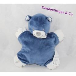 Doudou semi-flat bear BOUT'CHOU Monoprix navy blue bell
