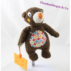 Tizours bear towel EBULOBO brown dentition 22 cm
