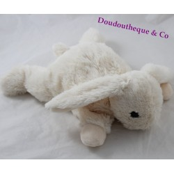 Fluffy rabbit MONOPRIX elongated cream white 29 cm