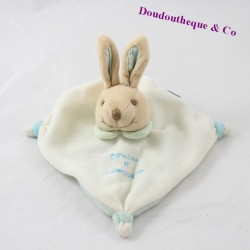 Doudou flat rabbit DOUDOU AND COMPAGNY mini blue beige doudou dC2372