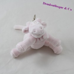 NOUKIE's Cow Plush Key Holder Pink Star Powder 12 cm