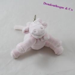 Porte clés peluche vache NOUKIE'S Poudre d'étoile rose 12 cm