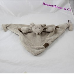 Soft flat mouse DIMPEL taupe grey triangle 47 cm