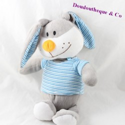 FIZZY rabbit plusb rabbit grey t-shirt blue striped orange nose 30 cm