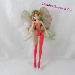 Fairy figure Flora KINDER Winx Club pink plastic wings 23 cm