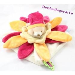 Doudou flat bear DOUDOU AND COMPAGNIE Tatoo orange petals 24 cm